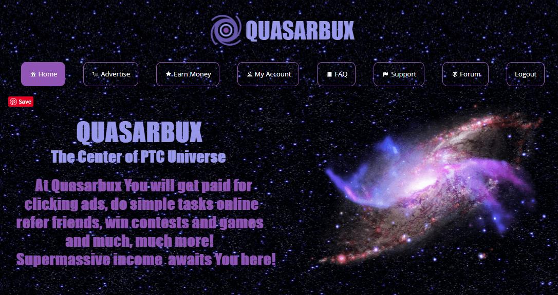 SCAM – Quasarbux.com Review Scam or Paying PTC Site?