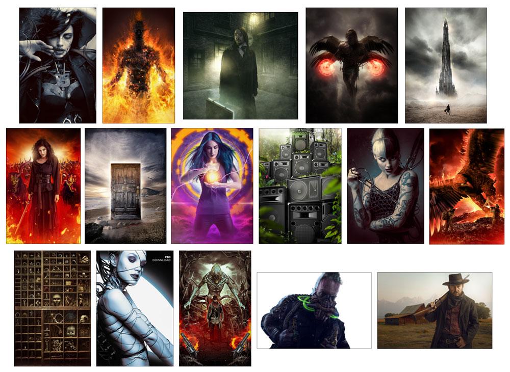 16 art psds bonus clinton lofthouse hollywood processing photoshop video training