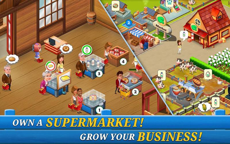Supermarket City: Farming Game (MOD, Money/Gems)