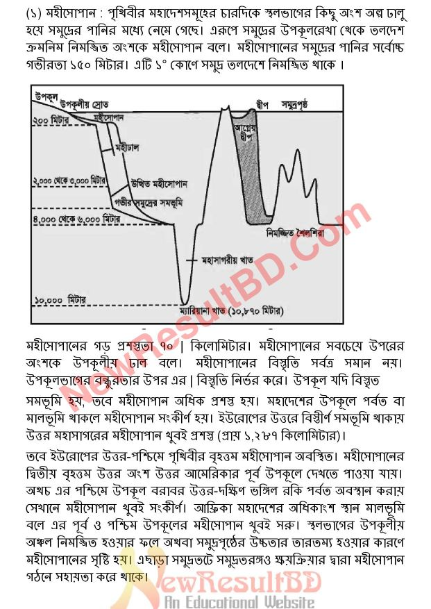 SSC Geography 6th Week Assignment 2021 Answer