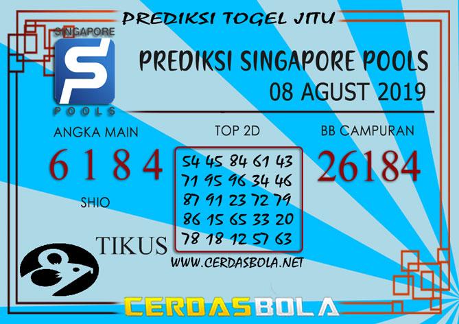 "Prediksi Togel ""SINGAPORE"" CERDASBOLA 08 AGUST 2019"
