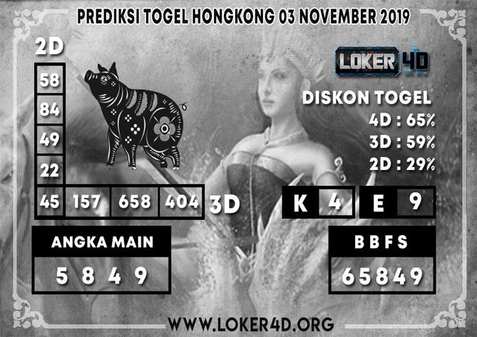 PREDIKSI TOGEL HONGKONG LOKER4D 03 NOVEMBER 2019