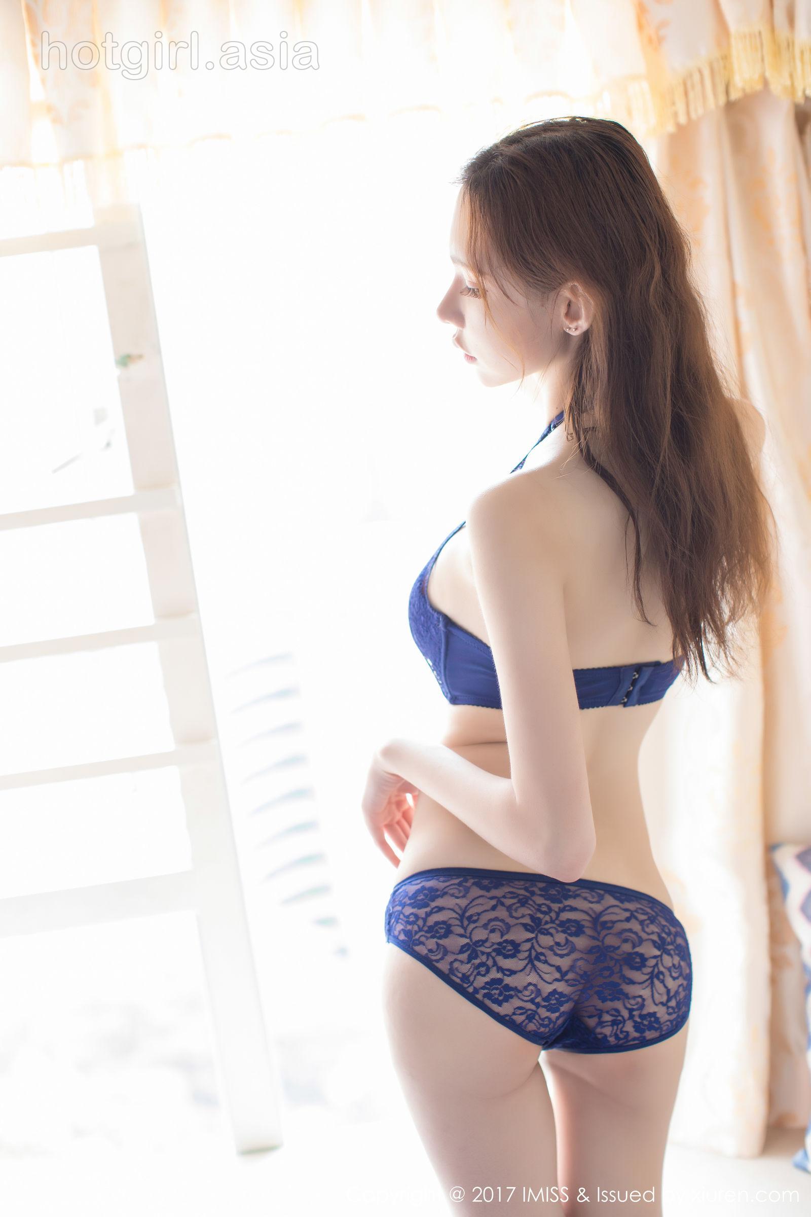 [IMiss 爱 蜜 社] VOL.188 Meng Qiqi Irene-pink pajamas + lace underwear photo