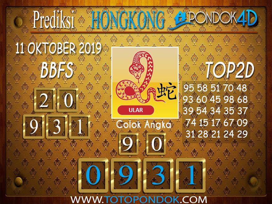 Prediksi Togel HONGKONG PONDOK4D 11 OKTOBER 2019