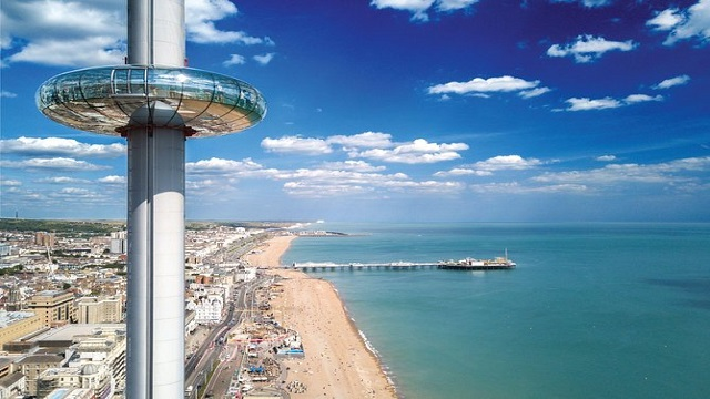 Brighton: What's it like to travel in the BA i360 Observation Tower?