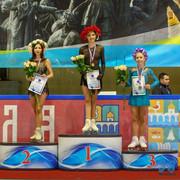 Лиза, Женя, Вика на пъедстале почёта / Liza, Zhenya and Vika on podium