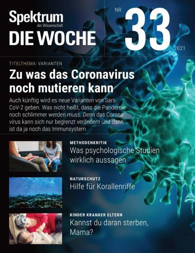 Cover: Spektrum Die Woche Magazin No 33 vom 19  August 2021