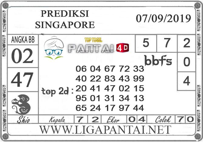 "PREDIKSI TOGEL ""SINGAPORE"" PANTAI4D 07 SEPTEMBER 2019"