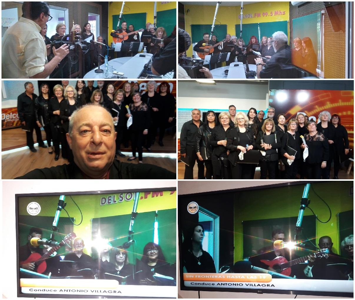 El Coro Municipal «Con Alma de Gurí» brindó un homenaje a las madres en el Programa «Sin Fronteras» que conduce Juan Antonio Villagra