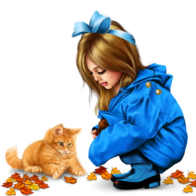 little girl in raincoat with a kitty png 200559e3f6928af774.png