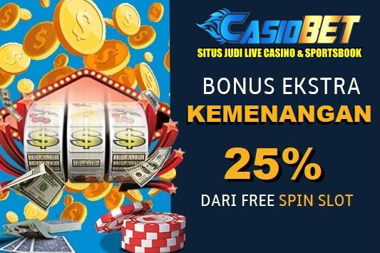 Bonus ekstra 25% kemenangan Free Spin Game Slot