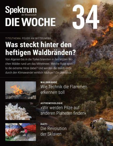 Cover: Spektrum Die Woche Magazin No 34 vom 26  August 2021