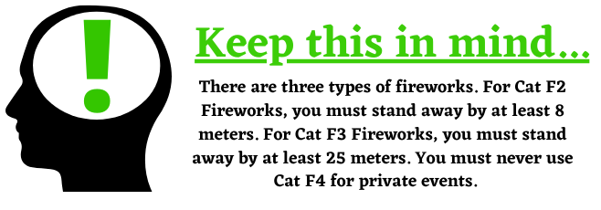 different types of fireworks and firework safety