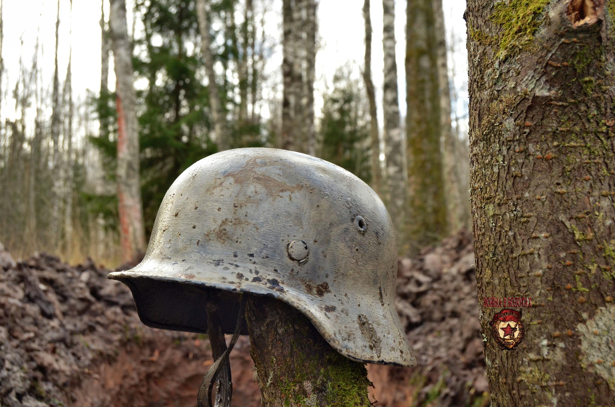 German helmet from dugout