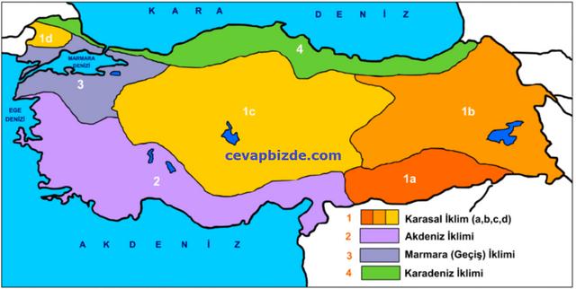 Türkiyedeki iklim çesitleri, Türkiyedeki iklim çeşitleri ve özellikleri nelerdir, Türkiyede Görülen İklim Tipleri ve özellikleri nelerdir