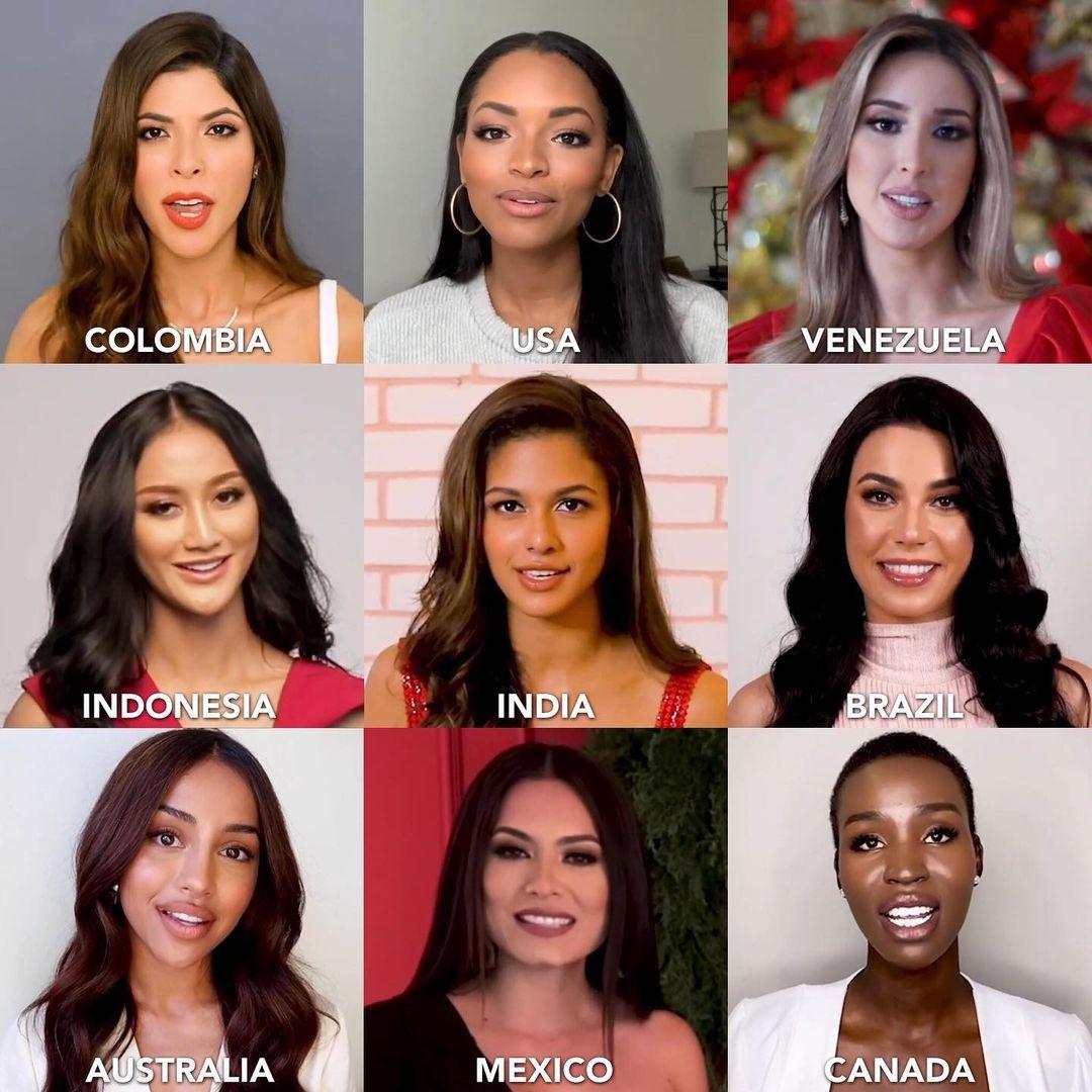 algunas candidatas de miss universe 2020 comentando su propositos para new year. Munhe5fef8587df487