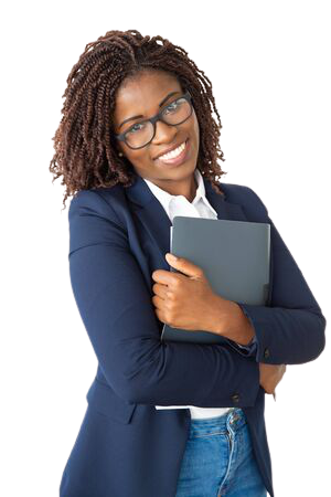 138452996-cheerful-young-businesswoman-holding-folder-happy-young-african-american-businesswoman