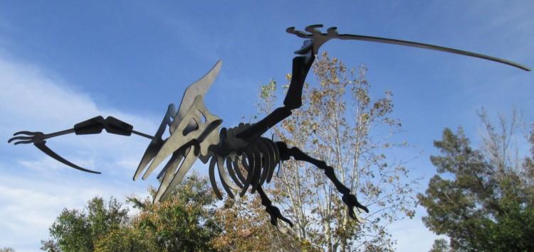 Pterodactyl 3D metal art sculpture