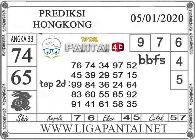 PREDIKSI TOGEL HONGKONG PANTAI4D 05 JANUARI 2020