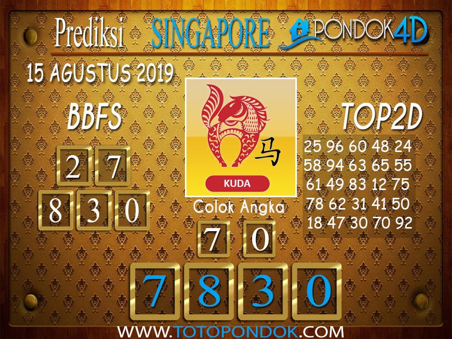 Prediksi Togel SINGAPORE PONDOK4D 15 AGUSTUS 2019