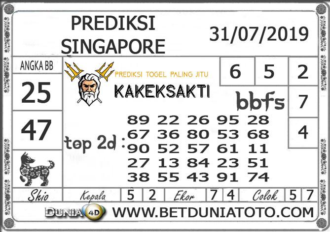 """Prediksi Togel """"SINGAPORE"""" DUNIA4D 31 JULI 2019"""