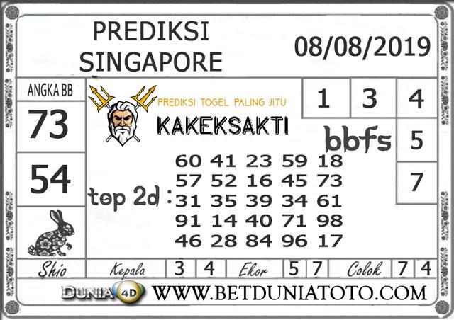 """Prediksi Togel """"SINGAPORE"""" DUNIA4D 08 AGUSTUS 2019"""