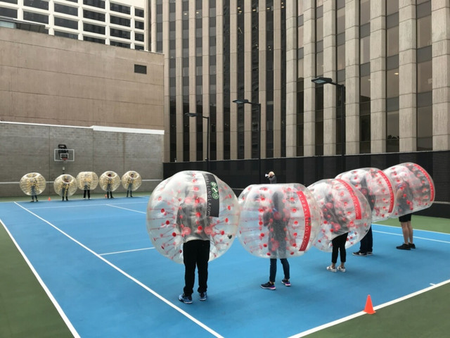 Bubble Soccer in West Hollywood serviced by AirballingLA.