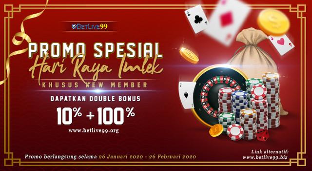 PROMO DOUBLE BONUS NEW MEMBER 10%+100%