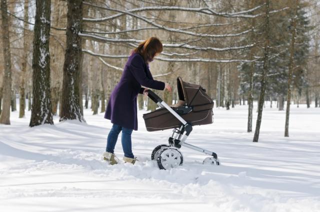 Сколько времени можно гулять с новорожденным зимой в коляске