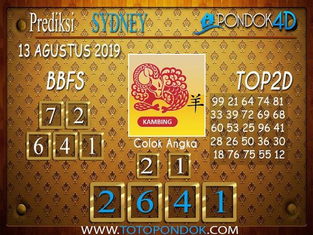 Prediksi Togel SYDNEY PONDOK4D 13 AGUSTUS 2019
