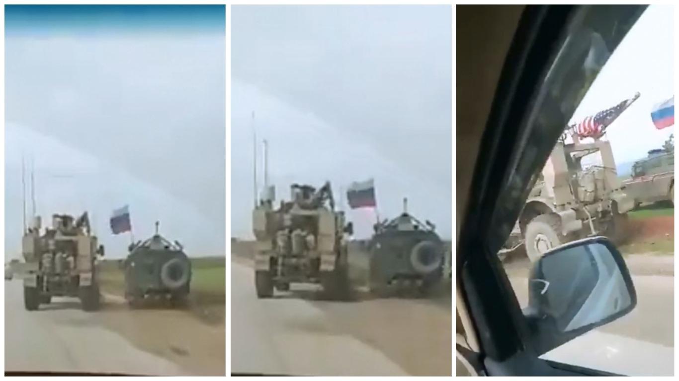 (VIDEO) 'BLISKI SUSRETI': Pogledajte nadmetanje američkih i ruskih vojnih vozila na cesti u Siriji
