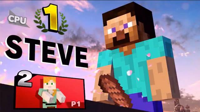 在大亂鬥中登場的鬥士史蒂夫,因勝利結算界面那塊位置奇怪的肉排過於「猥褻」而被9.0.1版本更新中修改了 w Image