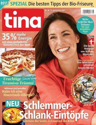 Cover: Tina Frauenmagazin No 38 vom 15  September 2021
