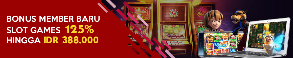 WELCOME BONUS SLOT GAMES 125%