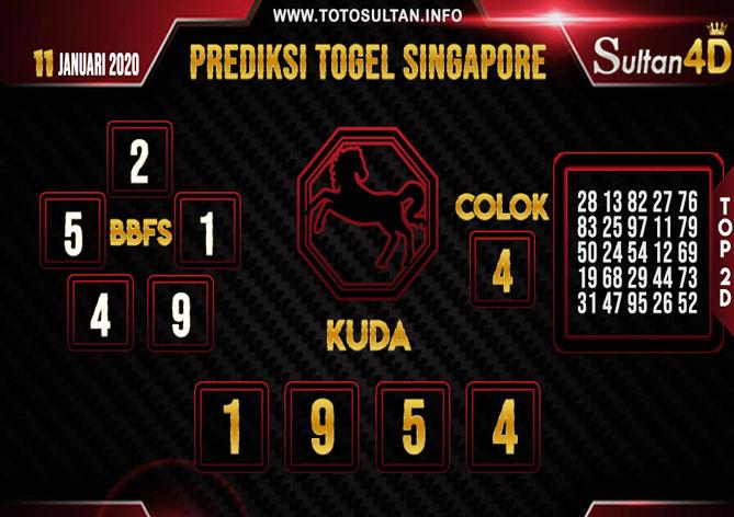 PREDIKSI TOGEL SINGAPORE SULTAN4D 11 JANUARI 2020