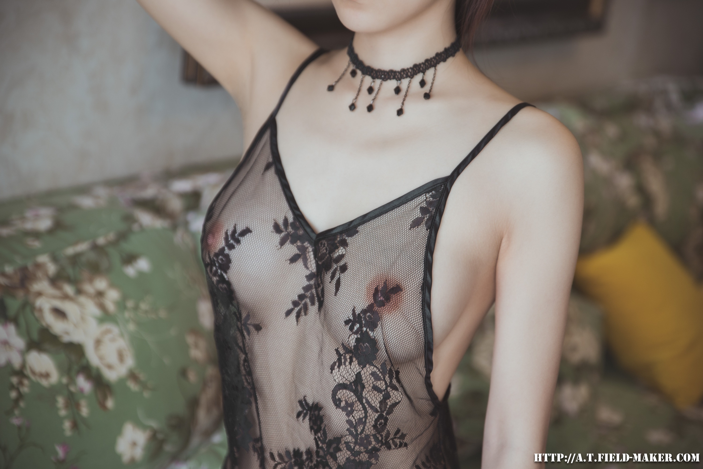 Tsubaki Album vol.006 Sheer lace pajamas 怠いお昼のパジャマ少女 sexy-nightdress-19