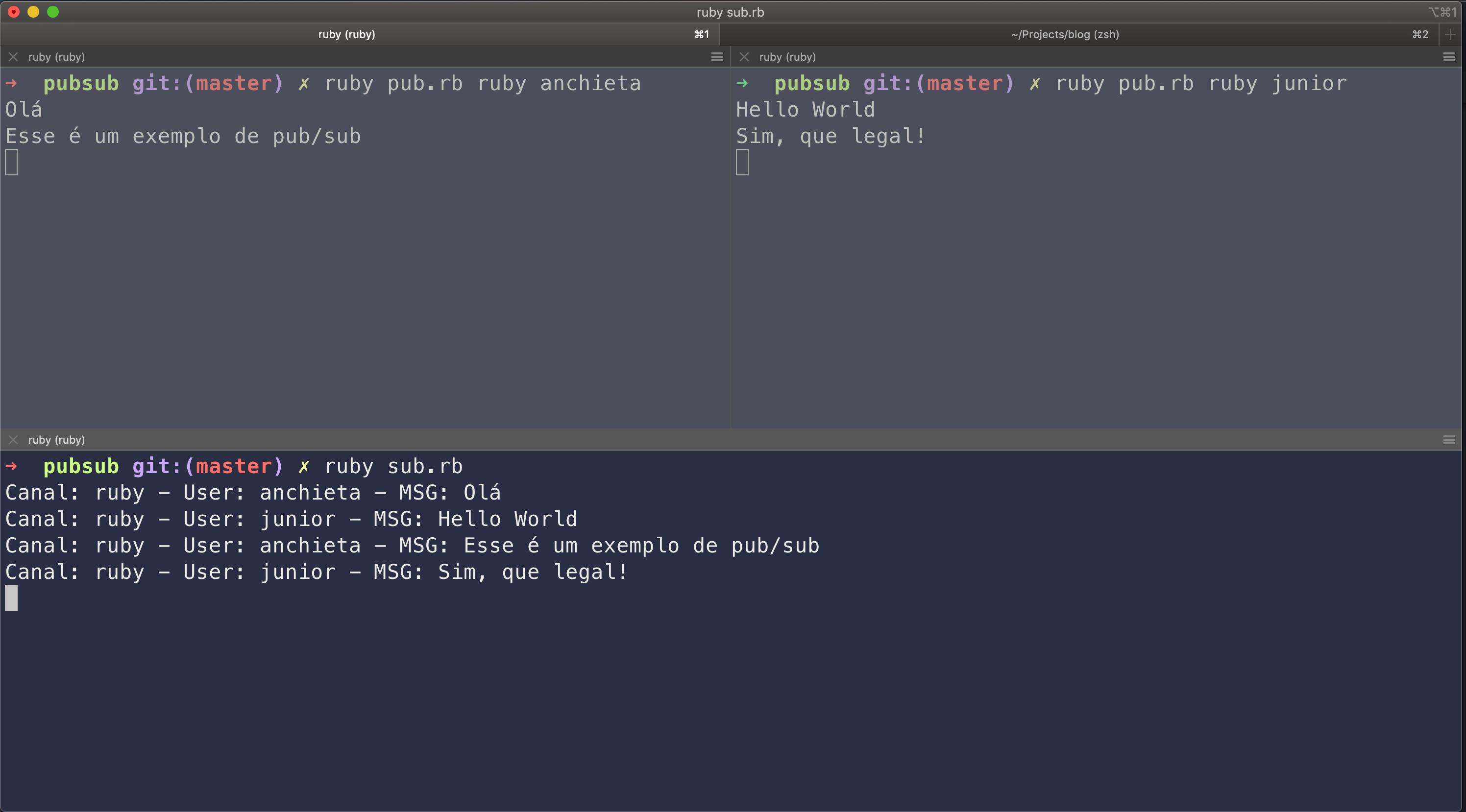 Pub/Sub Ruby