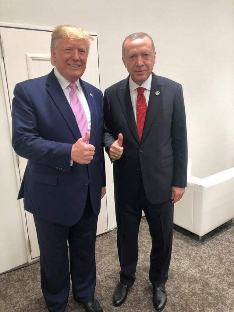 Donald Trump ile Cumhurbaşkanı Erdoğan samimi fotoğraf
