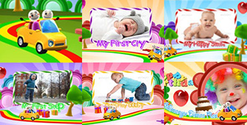Kids Intro Happy Birthday With Photo Video Display 7452065 - Project for After Effects (Videohive)