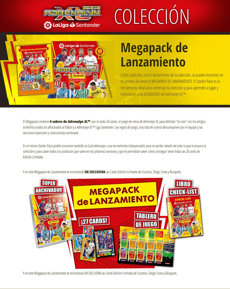 Megapack de Lanzamiento 13-MEGAPACK-DE-LANZAMIENTO-COLECCI-N-Adrenalyn-Liga