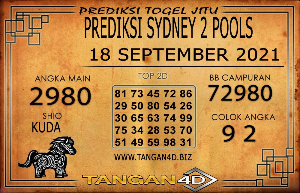 PREDIKSI TOGEL SYDNEY 2 TANGAN4D 18 SEPTEMBER 2021