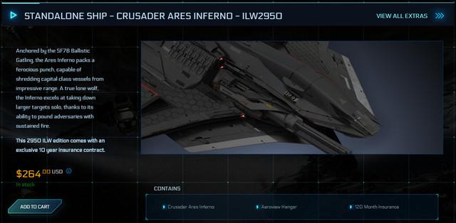 STANDALONE-SHIP-CRUSADER-ARES-INFERNO-ILW2950