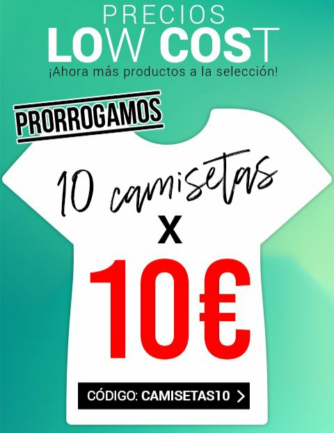 10 Camisetas por 10€