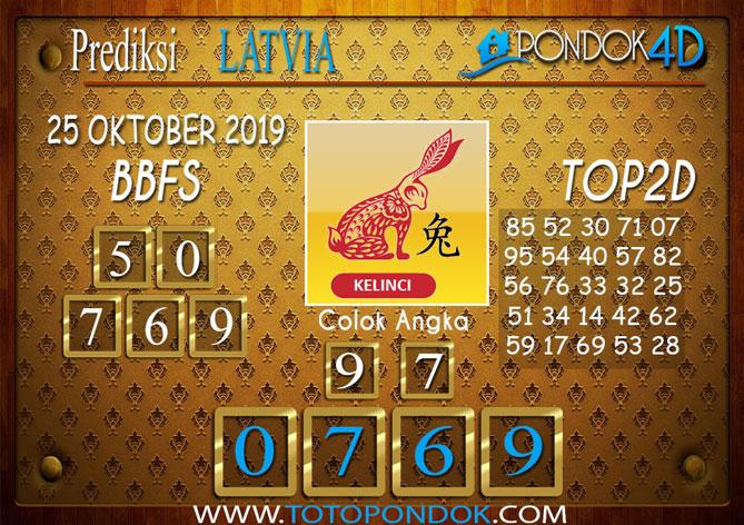 Prediksi Togel LATVIA POOLS PONDOK4D 25 OKTOBER 2019
