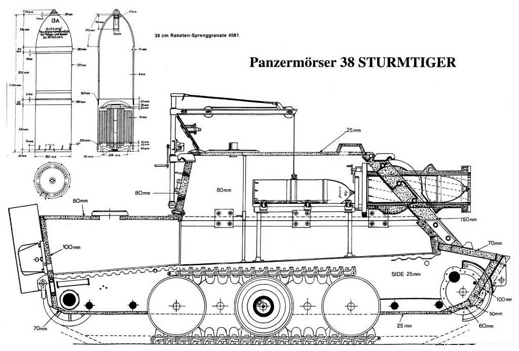 Drawing of the Sturmtiger.