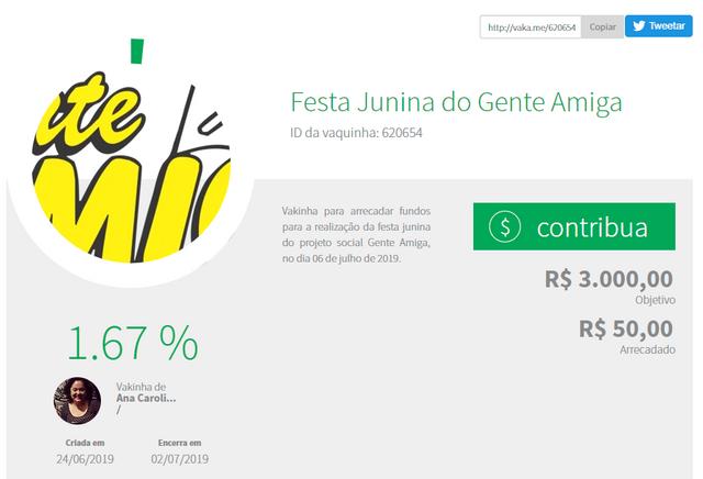 Festa-Junina-do-Gente-Amiga-Vaquinhas-online-Vakinha