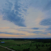 A country panorama at dusk