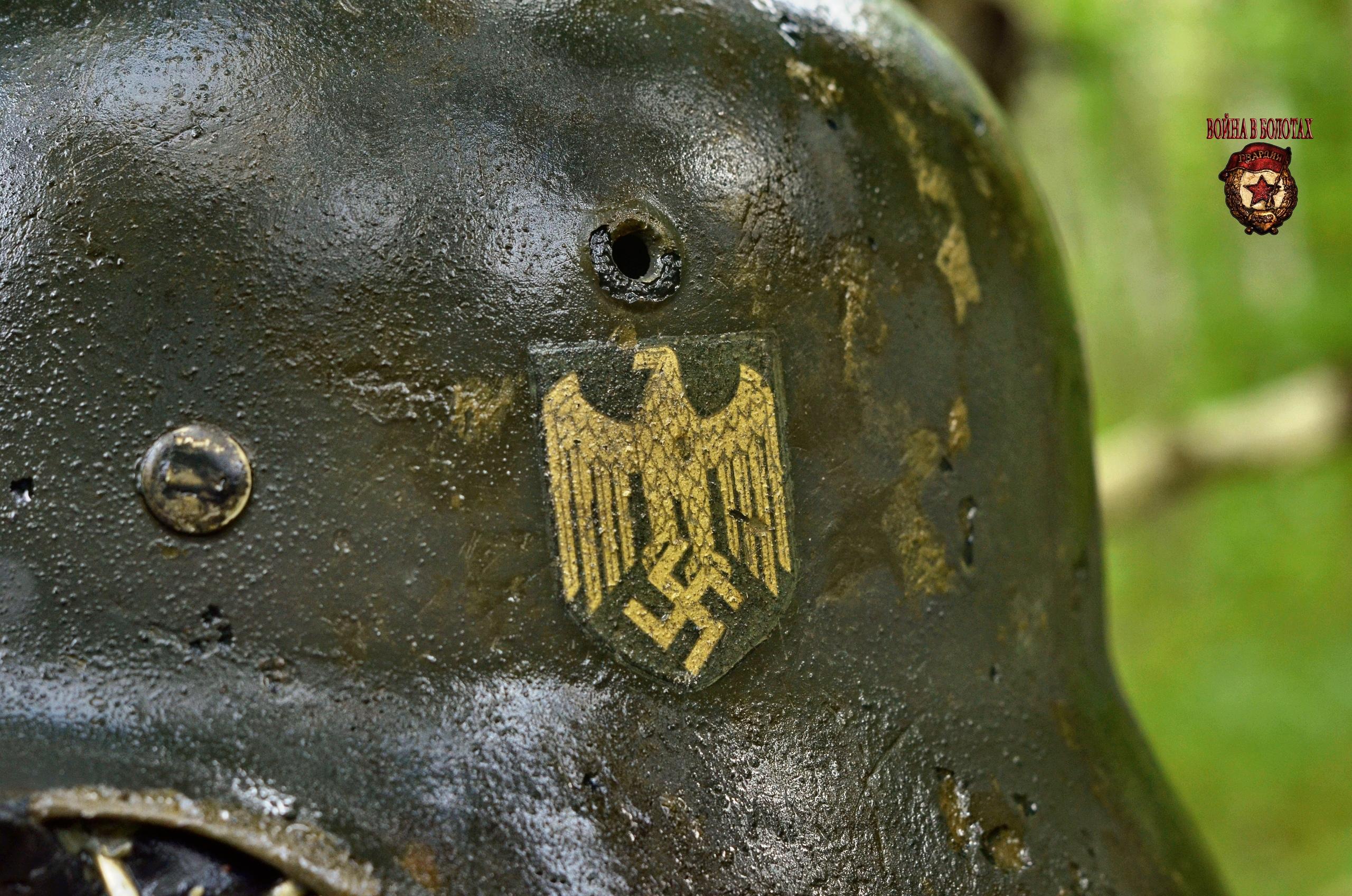 Decal on a German helmet.
