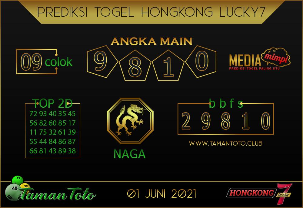 Prediksi Togel HONGKONG LUCKY 7 TAMAN TOTO 01 JUNI 2021