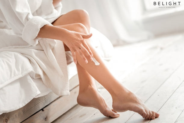 For-soft-skin-Close-up-of-a-female-leg-with-moisturizing-cream-being-applied-on-it